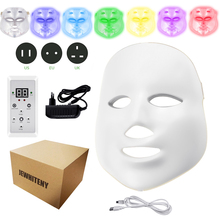 Electric LED Facial Mask Beauty Photon Therapy 7 colors Light Skin Care Rejuvenation Wrinkle Acne Removal Face Beauty Spa недорого