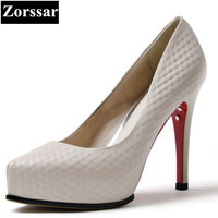 Women S Shoes Fashion Woman Pumps High Heels 2017 Womens Genuine Leather Pointed Toe Thin Heel