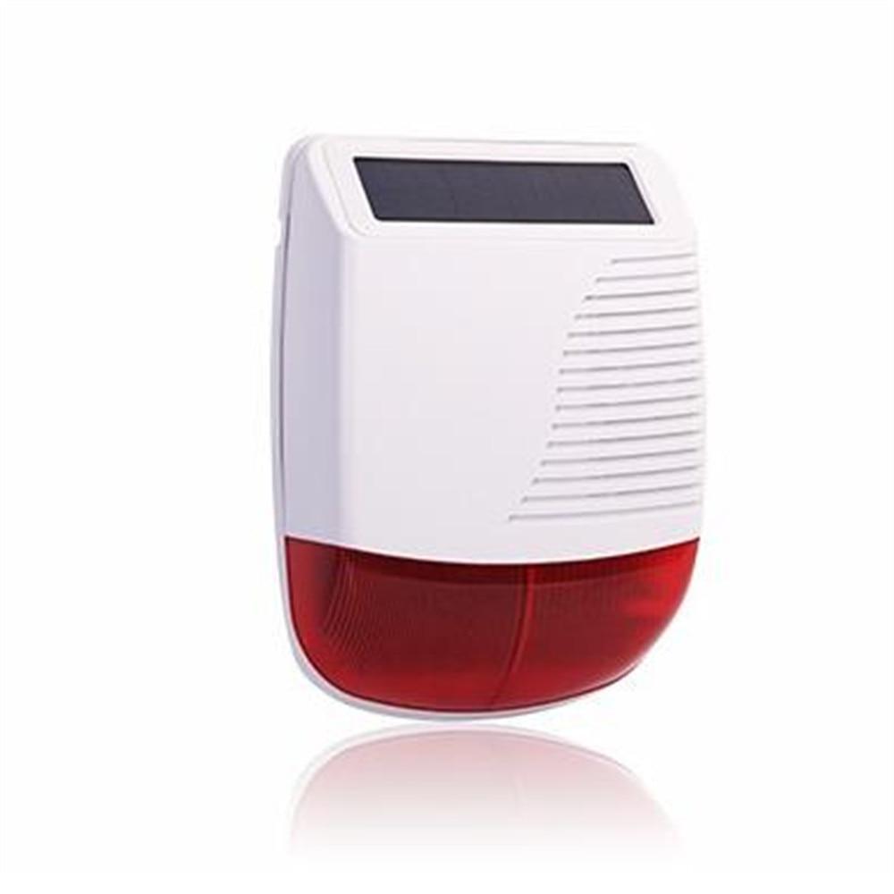 Esterno impermeabile Wireless Sirena Dello Stroboscopio Solare Alimentato con red Flash Light 110DBEsterno impermeabile Wireless Sirena Dello Stroboscopio Solare Alimentato con red Flash Light 110DB