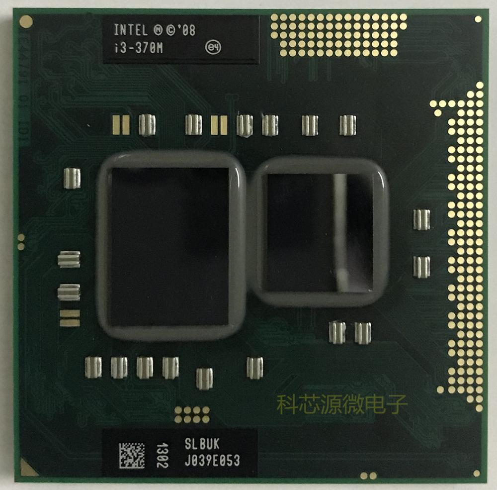 Intel Core i3-370M i3 370M SLBUK 2.4 GHz Dual-Core Quad-Thread CPU Processor 3W 35W Socket G1 / rPGA988A