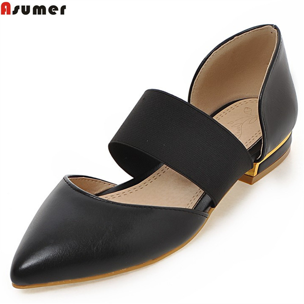 ASUMER black pink white fashion spring autumn new ladies shoes pointed toe casual single shoes square heel women low heels shoes xiaying smile new spring autumn women pumps british style fashion casual lace shoes square heel pointed toe canvas rubber shoes