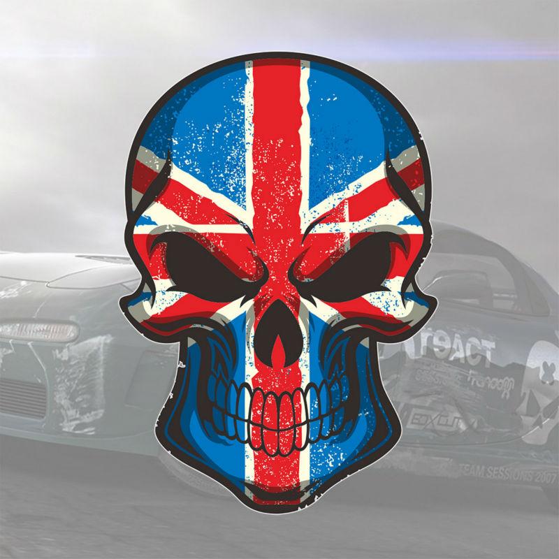 New 3d design union jack skull decoration sticker for vw for Decoration murale union jack