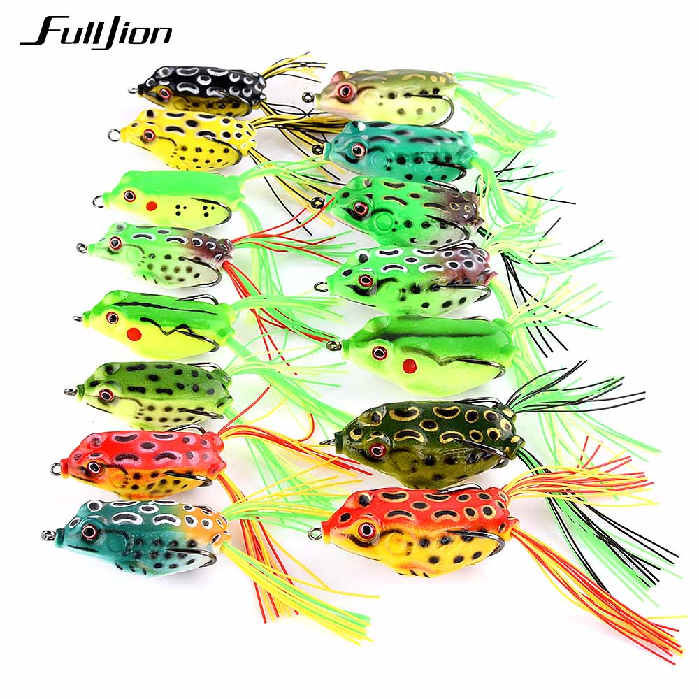 Fulljion Frog Fishing Lures Topwater Wobblers Minnow Crankbaits for Fly Fishing Artificial Insect Soft Lures Baits Hooks Pesca 1pc 5 5cm 13g frog lure fishing lures treble hooks top water ray frog artificial minnow crank strong artificial soft bait