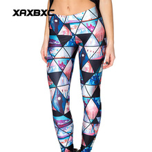 New 3302 Sexy Girl Cartoon Cinderella Coach princess Prints Elastic Slim Fitness Workout Women Leggings Trousers Pants Plus Size