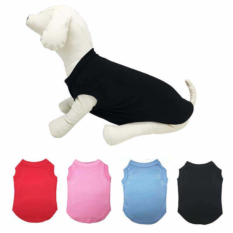 Pure Kleur Hond Kleding Zomer Puppy t-shirt Honden Kleding Huisdier voor Kleine Medium Grote Honden Jersey Chihuahua Kleding 12a28