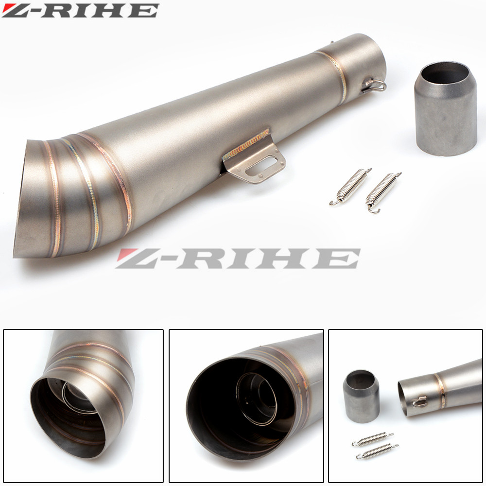 Universal Motorcycle Scooter Modified Escape Exhaust Muffler Pipe cover for yamaha YZF R6 FZ1 FZ6 FZ800 XJ6 XT 660 R MT125 mt09