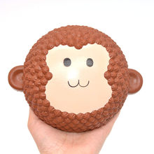 Kawaii Monkey Cake Squishies Jumbo Cute New Scented toy 15cm Plus size Cartoon Slow Rising Gift Decor for Kids Decompress toys(China)