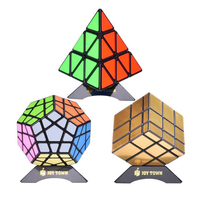 Bundle Pack Speed Cube Set Of 3 Pyraminx Pyramid Speedcubing Megaminx Speed Cube Gold Mirror Cube