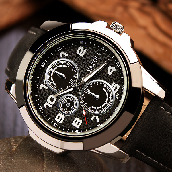 Top Brand Luxury Famous Sport Watch Men Watches Male Clock Quartz Watch Wrist leather Quartz-watch Wristwatch Relogio Masculino