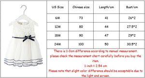 Image 5 - Neugeborene Mädchen Prinzessin Baby Kleid Kinder Hochzeit Festzug Spitze Baumwolle Kleider Ballkleid 0 2Y weiß