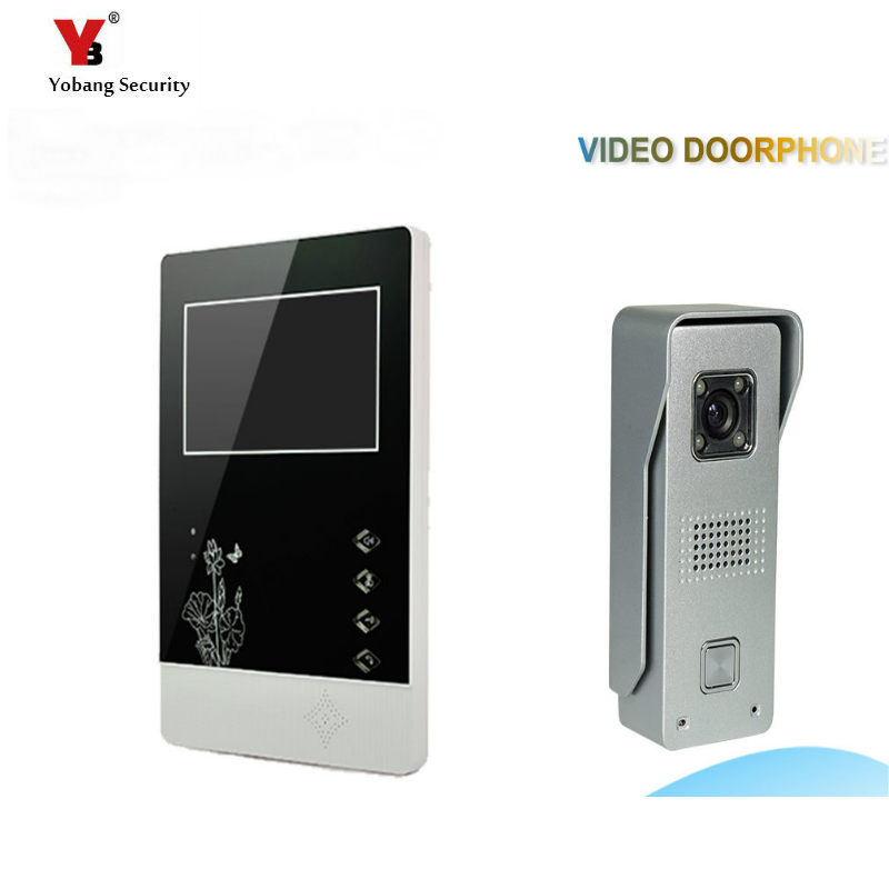 Yobang Security freeship 4.3Video Door Video Monitor Kit Video Door Phone Intercom Door bell Doorbell Night Vision door bell yobang security freeship 4 3 inch video door color video monitor kit video intercom and video doorbell ir camera night vision