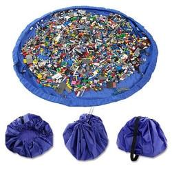 150 cm Portable Kids Toy Storage Bag and Play Mat Lego Toys Organizer Bin Box XL Fashion Practical Storage Bags