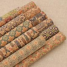 Винтажная печатная мягкая пробковая ткань А4 для сумок для одежды, бумажников для шитья, рукоделия, материалы для рукоделия