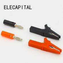 55 мм Аллигатор клип+ штекер банана, Пробник с 4 мм кабель со штекером типа банан зажимы