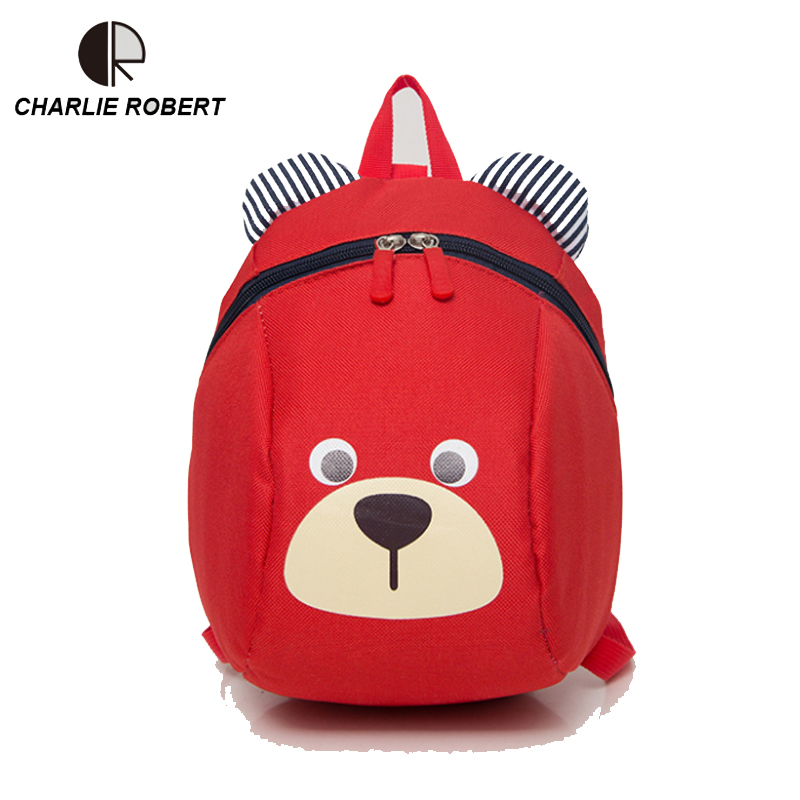 Baby Bear Children Backpack  For 1-3 Years Kindergarten Boys And Girls Bag Animal Cartoon  Characters Toddler Anti-lost Backpack 2017 new children backpacks nylon waterproof cartoon dinosaur anti lost kindergarten school bags for 0 3 years kids boys girls