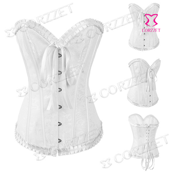 Vintage Floral Pattern Burlesque Bridal Bustier Top Gothic Corset Women Sexy Corselet Strapless Overbust Corpete in Bustiers Corsets from Underwear Sleepwears