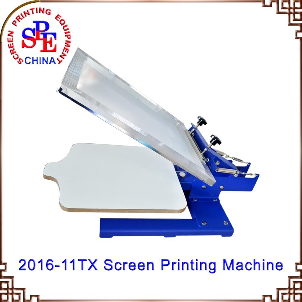 Color press printing - Co Color Press Printing One Color Manual Screen Printing Machine Single Color Screen Printing Machine