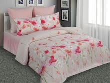 Комплект постельного белья двуспальный-евро Amore Mio, розовый, с цветами