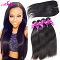 7A Cambodian Virgin Hair With Lace Closure Cambodian Straight Virgin Hair With Closure 3 Bundles With Lace Closure Human Hair
