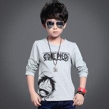 Boys Long-sleeved T-shirt 2016 New Children's Cartoon T-shirt Cotton Tops Fashion
