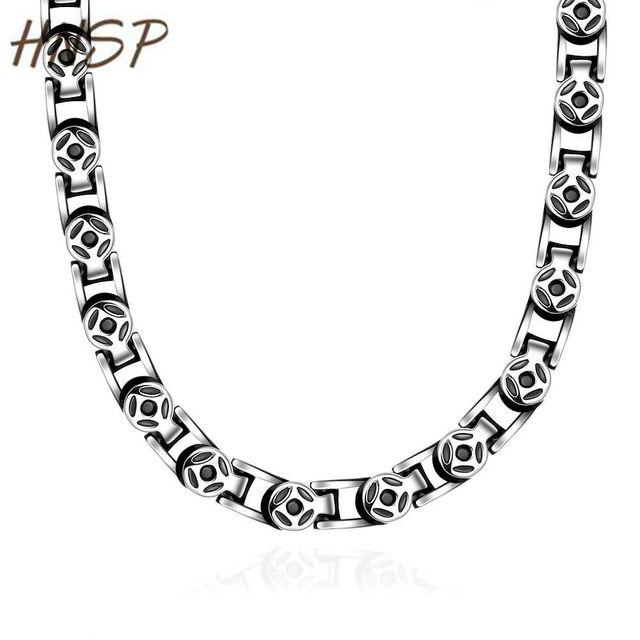 HNSP 5.0MM Vintage Male jewelry 2017 New Fashion stainless steel Casual style Chain Link necklace For Men accessories N060