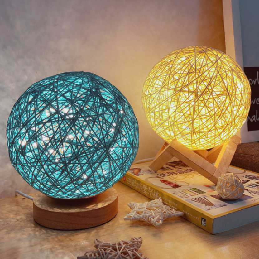 LED Luna Night Light Moon Lamp Desk USB Charging 3 Color Home Decor Creative Gift Sepak Takraw Table Lamp magnetic floating levitation 3d print moon lamp led night light 2 color auto change moon light home decor creative birthday gift