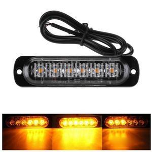 Image 2 - 4Pcs 12 24V 18W 6 LED Slim Flash Light Bar Car Vehicle Truck Moto Emergency Warning Strobe Lamps Auto Accessories