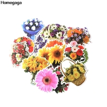 Homegaga 15pcs Flowers Plants trendy kids Funny 90s print notebook phone luggage laptop bicycle scrapbooking decal sticker D2078
