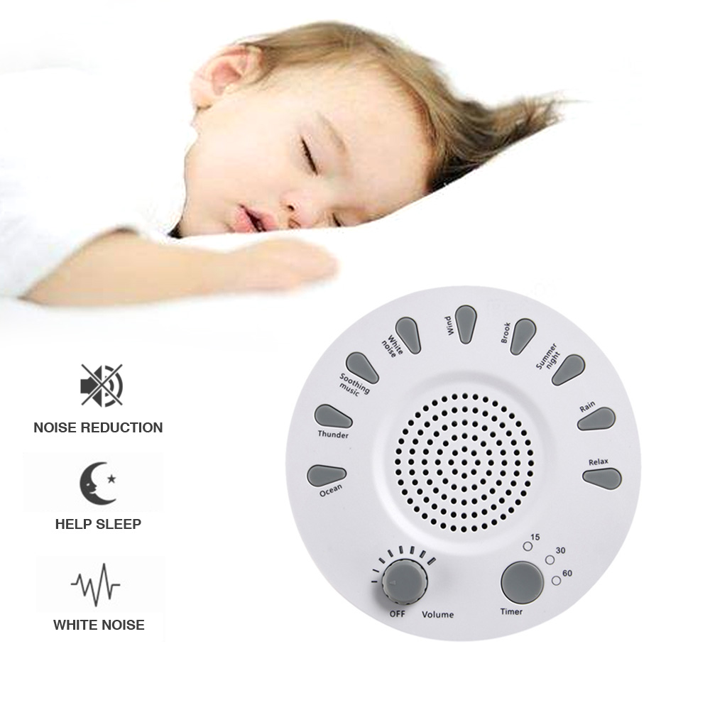 Rechargeable Baby Sleep Machine White Noise Music Player Machines Sound Relaxation Sleep Helper Adult Baby Health Care Accessory convenient baby medicine feeder helper yellow translucent white