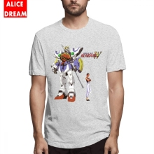 Mens Quality Gundam T shirt Wing Shenlong T-shirt Hip Hop Tee Pure Cotton Alicedream Homme 2019 New Arrival