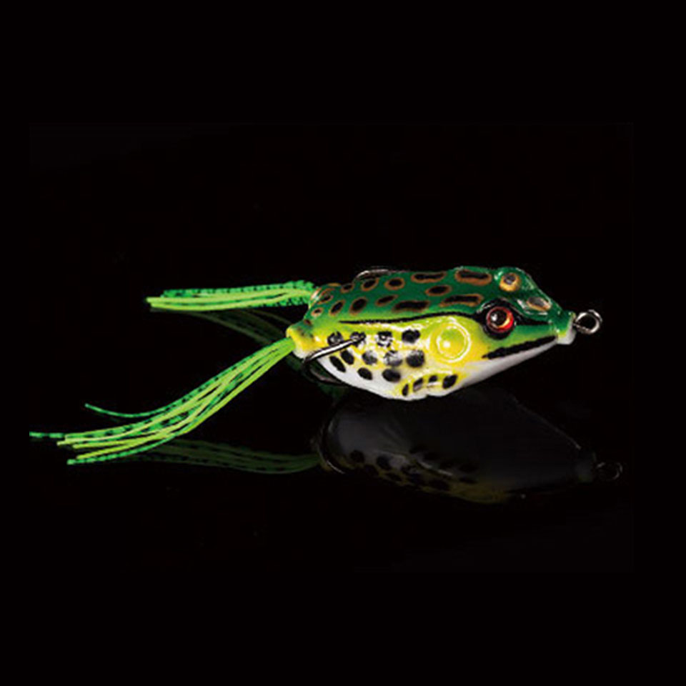 WALK FISH 1PCS 5cm 10g Frog Lure Fishing Lures Treble Hooks Top water Ray Frog Artificial Minnow Crank Strong Artificial Soft