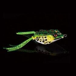WALK FISH 1 шт., 5 см, 10 г, приманка лягушка, рыболовные приманки, тройные Крючки, верхняя вода, луч, лягушка, искусственная блесна, сильный Искусств...