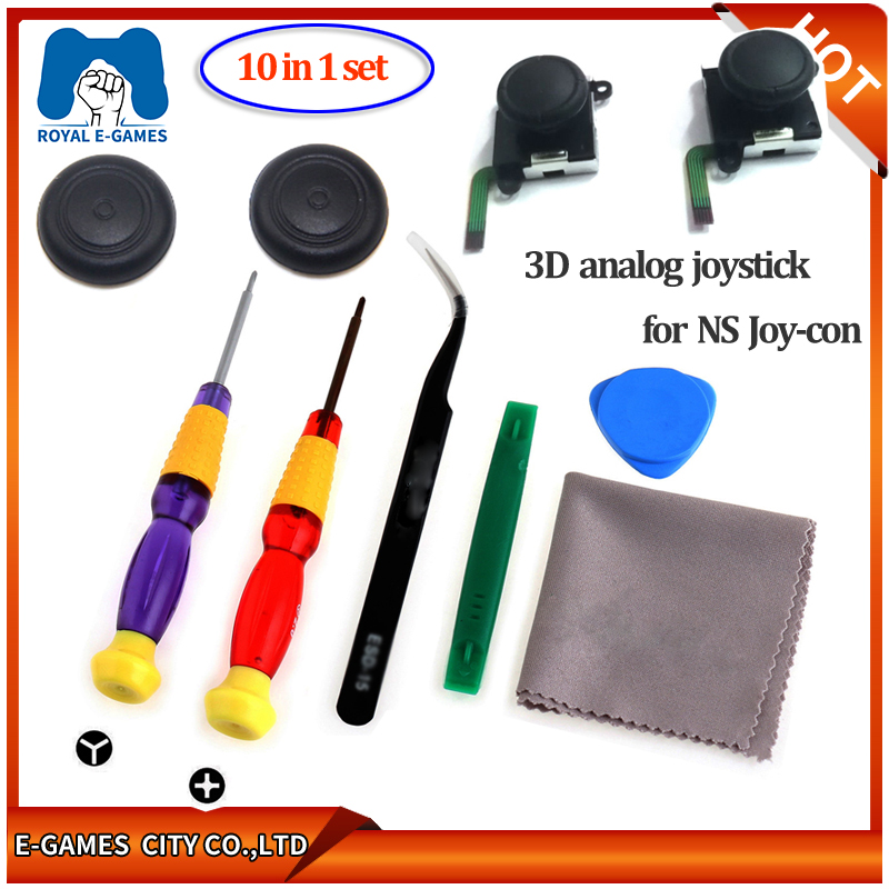 3D Joystick For NS Joy Con Nintend Switch Left Right Analog Sticks Replacement For Joy Stick Controller Repair Accessories+Tools