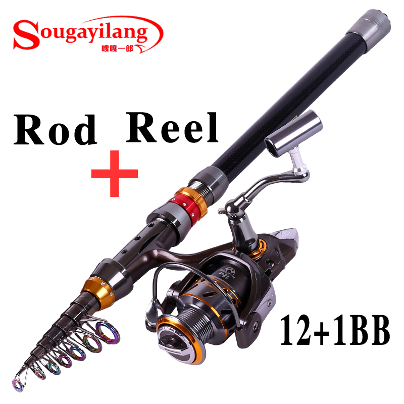 Sougayilang 3.6m Carbon Telescopic Fishing Rod With 13BB Spinning Fishing Reel Fishing Rod Pole Set Kit Vara De Pesca martins real leather plus velvet british style high heel womens fashion boots winter 2015 lace up pointed toe ankle side zip
