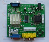 New Arrival CGA TO VGA Converter CGA EGA YUV To VGA PCB One VGA Output Game