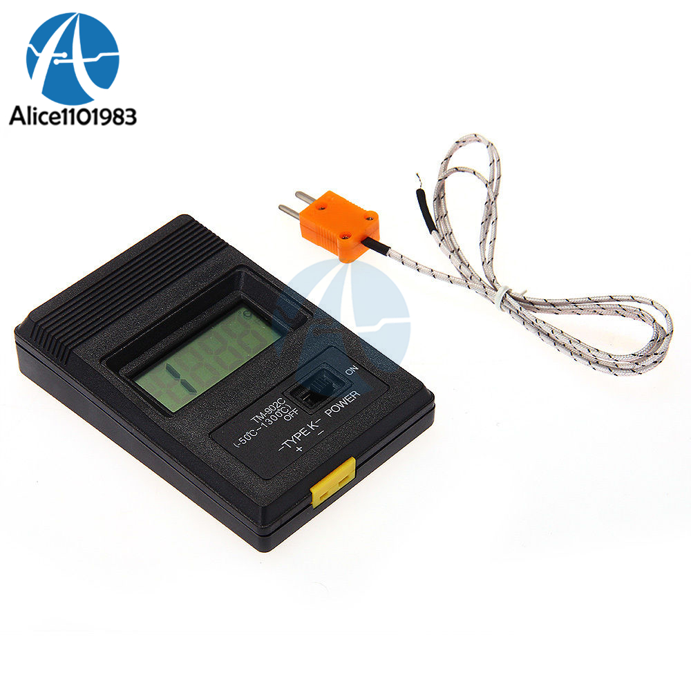 TM902C Digital LCD K Type Thermometer Temperature Single Input Pro Thermocouple Probe Detector Sensor Module Reader Meter-50~750TM902C Digital LCD K Type Thermometer Temperature Single Input Pro Thermocouple Probe Detector Sensor Module Reader Meter-50~750