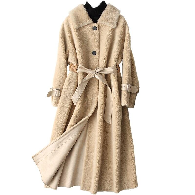 ff36c75ffdf838 Pelle Lana light Inverno Alla Cappotto Della Di Nuove Delle Moda Caldo  Vestiti Donne Del Sciolto ...