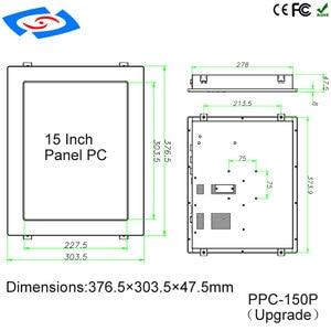 """Image 5 - Fabrika Doğrudan 15 """"Intel Celeron J1900 Dört Çekirdekli Fansız Endüstriyel Panel PC Ile Çok seri Port Için filtreler Kontrol"""