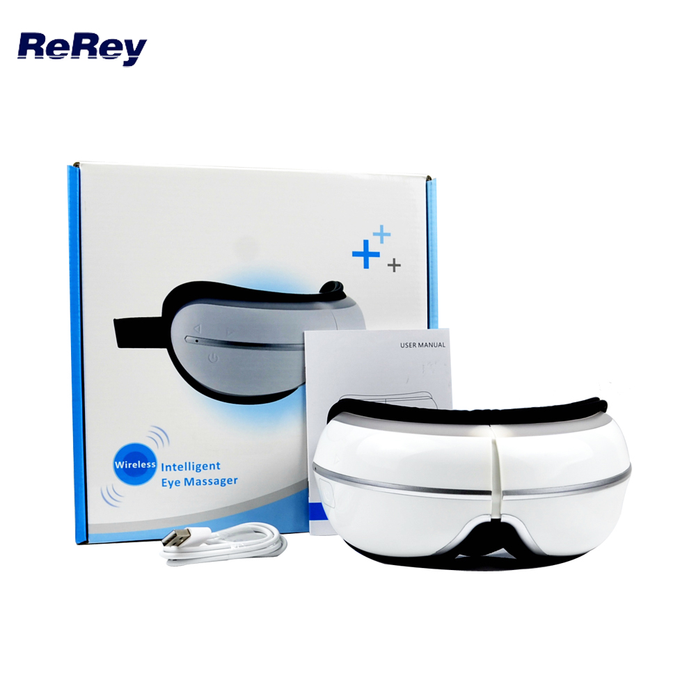 Electric Eye Massager FIR Heat Therapy Air Pressure Compression Massage Music Eye Care Stress Relief Vibration Massager Goggles цена