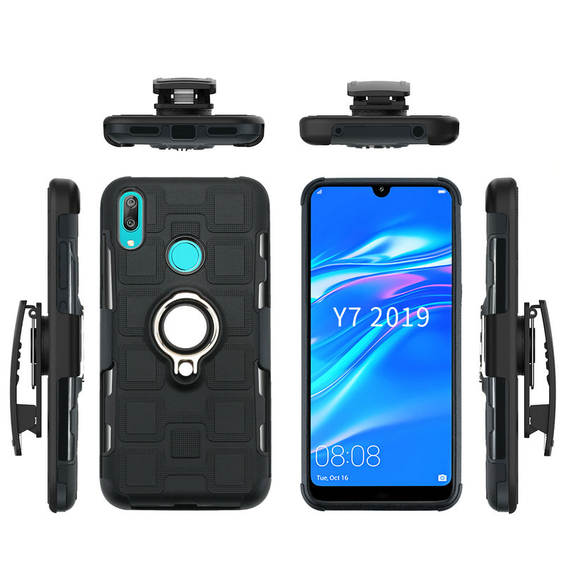 Metal Ring Car Stand for <font><b>Huawei</b></font> Y7 <font><b>2019</b></font> Case Belt Clip Holster <font><b>Funda</b></font> <font><b>Huawei</b></font> Y5 <font><b>2019</b></font> Case <font><b>Huawei</b></font> <font><b>Y6</b></font> <font><b>2019</b></font> Y7 Prime Cover Y9 (<font><b>2019</b></font>) image