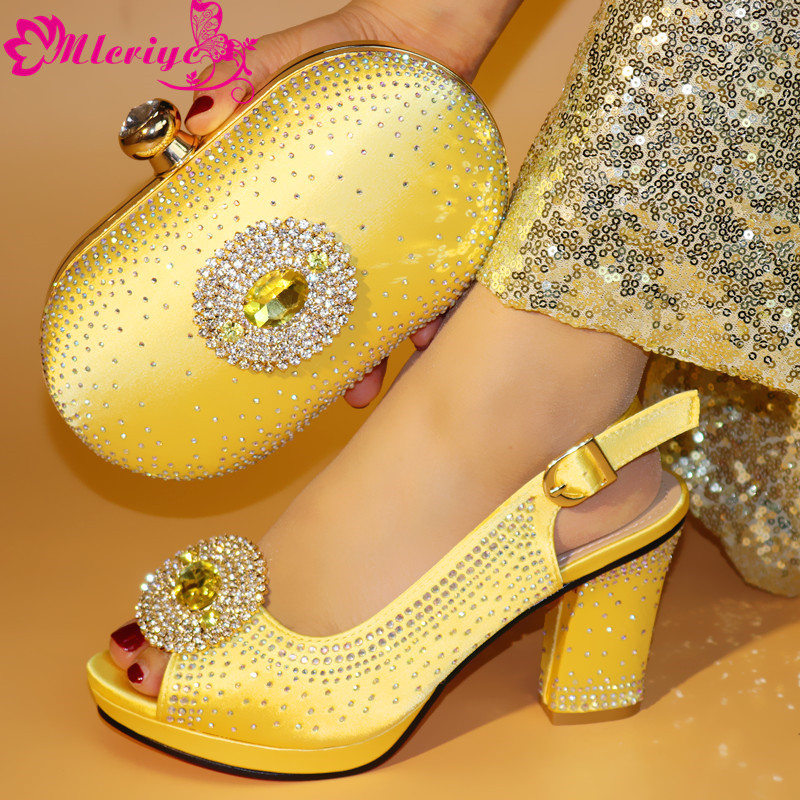 664-8 gold Italian Shoes with Matching Bag for Woman Italian Shoes and Bag Set High Quality African Wedding Shoe and Bag664-8 gold Italian Shoes with Matching Bag for Woman Italian Shoes and Bag Set High Quality African Wedding Shoe and Bag