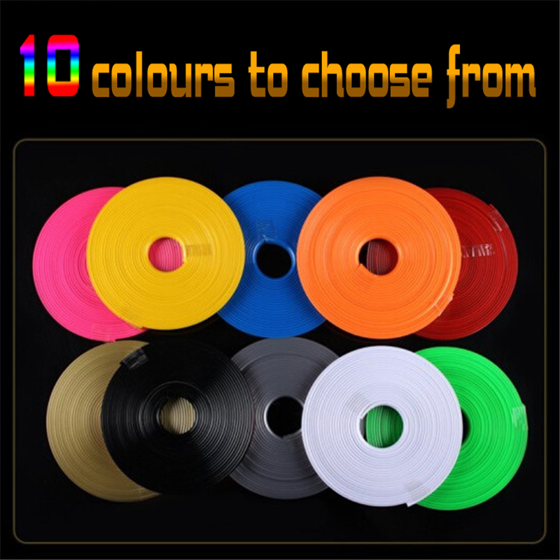 Car Vehicle Color Wheel Rims Protectors Decor Strip Tire Guard Line Rubber Moulding Trim 8M/ Roll Pink Blue Green Red Violet