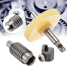1Set Plastic Worm Reduction Gear Set Metal Wheel Speed Reducer Gearset For DIY Accessory цена 2017