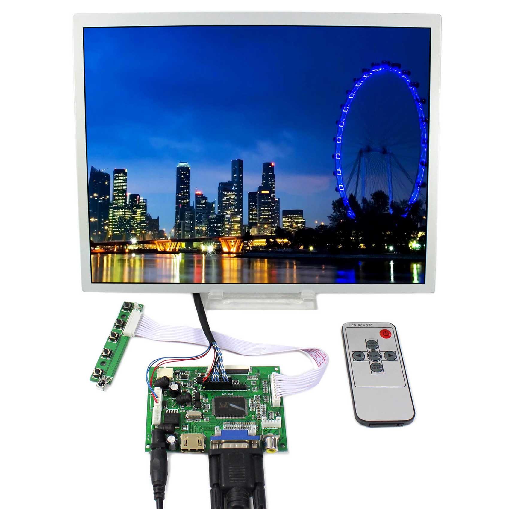 HDMI VGA 2AV LCD LCD valdiklio plokštė + 12,1 col. LQ121S1LG75 800x600 LCD ekranas