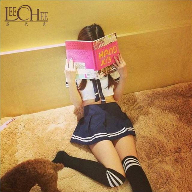 Bow tie student suit Sexy Sailor Uniform Game uniform Close-fitting jacket with split skirt sexy underwear Leechee A184