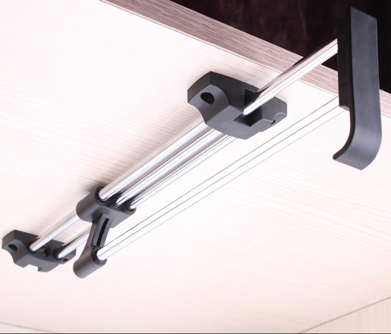 Top Mounted Sliding Pull Out Closet Wardrobe Clothes