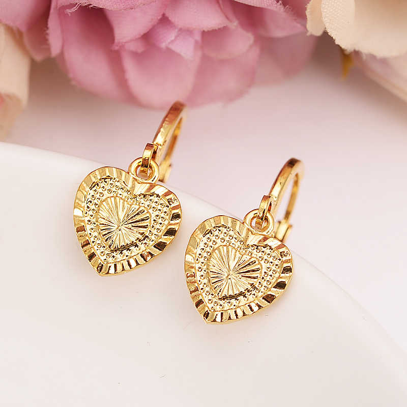 gold love drop earring Ethiopian/Nigeria/Kenya /Ghana  Gold color Dubai african Arab Middle Eastern Jewelry Mom Gifts