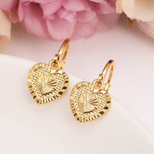 gold love drop earring Ethiopian/Nigeria/Kenya /Ghana Gold color Dubai african Arab Middle Eastern Jewelry Mom Gifts(China)