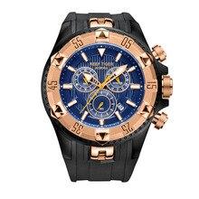Recife Tigre Aurora Serier RGA303 Homens Esportes Relógios de Quartzo Relógio de Pulso com Cronógrafo e Data Dial Big Super Luminosa
