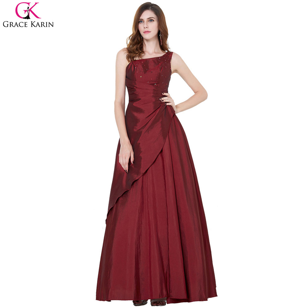 grace karin evening dresses long formal gowns taffeta robe de soiree elegant mother of the bride. Black Bedroom Furniture Sets. Home Design Ideas